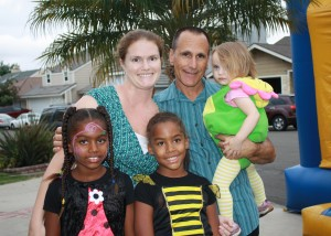 Shawna McKee and her family at the 2012 Montage Halloween party