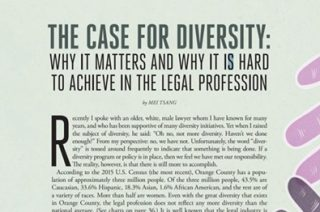 """Montage Highlighted in """"The Case For Diversity: Why It Matters And Why It Is Hard To Achieve In The Legal Profession"""""""